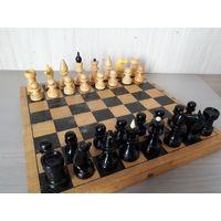 Шахматы советские, доска 29 см. Дерево.