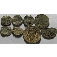 Кучка монет ВКЛ (солиды, денарии, полугрош)