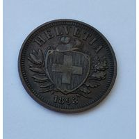 Швейцария 2 раппена, 1893  7-5-39