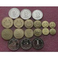 Таджикистан набор 9 монет 1 2 5 10 20 50 дирам 1 3 5 сомони 2019 год