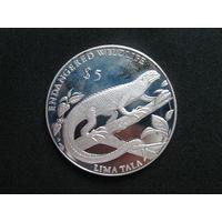Токелау 5 долларов 1993 года.