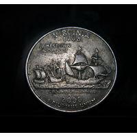 США 25 центов (квотер) Виргиния 2000