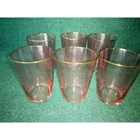 Стаканы розового цвета, 200 грамм