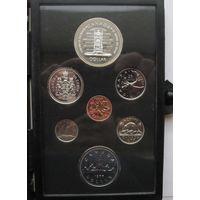 Канада, набор, 1977, серебро