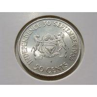 """Ботсвана. 50 центов 1966 год KM#1  """"Независимость"""" Редкая!!!"""