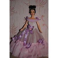 """Продам новое ПЛАТЬЕ для куклы Барби: """"Нежная РОЗА"""" - машинный самошив, сидит весьма аккуратно. Сама кукла, как и её головной убор в стоимость не входят. Пересыл по почте платный!"""