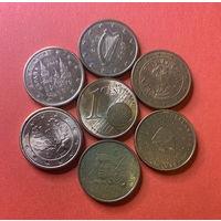 Евроценты, 1ц разных стран 6шт.