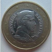 Латвия 1 евро 2016 г.