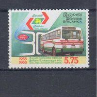 [664] Шри Ланка 1988. Транспорт.Автобус.