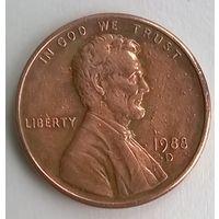США. 1 цент 1988D.
