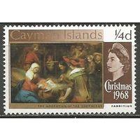 Кайманы. Рождество в живописи. 1968г. Mi#204.