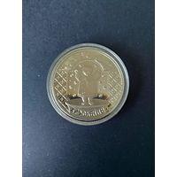"""Медно-никелевая монета """"Хрэсьбiны"""" (""""Крестины""""), 2009. 1 рубль"""