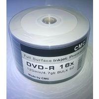 DVD -R 4.7 Gb  Printable 50 шт. возможность печать на диске