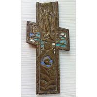 Крест старинный на эмалях. (часть креста)