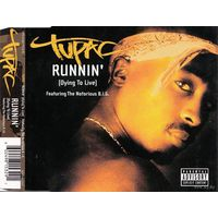 Tupac - Runnin' (Dying To Live)-2003,CD, Maxi-Single,Enhanced,Made in UK & Europe.