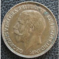 Фартинг 1925 Британия KM# 808.2 бронза
