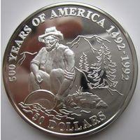 Острова Кука. 50 долларов 1993. Серебро. Пруф. 155