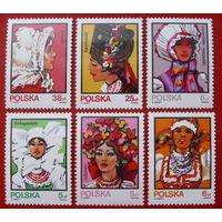 Польша. Национальные костюмы ( 6 марок ) 1983 года.