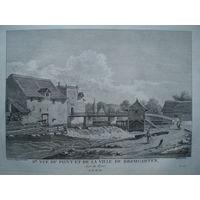 Офорт Вид на Бремгартен. 1780-е годы. #3/2