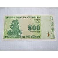 Зимбабве. 500 долларов (образца 2009 года, P98, UNC)