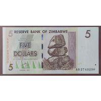 5 долларов 2007 (2008) года - Зимбабве - UNC