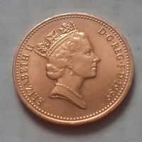 1 пенни, Великобритания 1989 г., AU