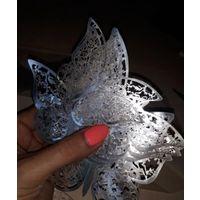 Бабочки 3D.Серебро.Золото.