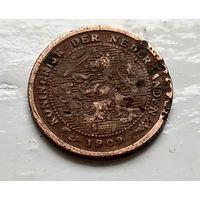 Нидерланды 1/2 цента, 1909 1-11-29