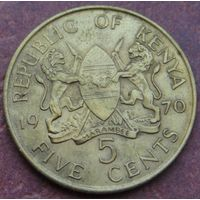 5338:  5 центов 1970 Кения