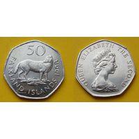 Фолклендские острова 50 пенс 1998г. - малый размер