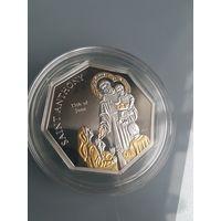 Острова Кука 5 долларов 2010г. серебро 999 / 25 гр., 25 кристаллов Своровски