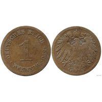 YS: Германия, Рейх, 1 пфенниг 1890F, KM# 10