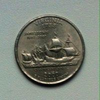 25 центов США Virginia