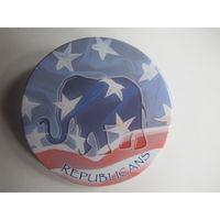 Предвыборный значок Республиканской партии США