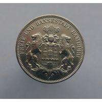 3 марки Свободный и Ганзейский город Гамбург 1909 года.Состояние!!!