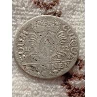 1/12 таллера  1692 года . Брогденбург  , Саксония