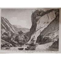 Офорт Вид на долину в горах. 1780-е годы. #5/1