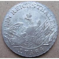 Пруссия талер 1784 А в блеске
