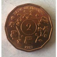 Уганда, 2 шиллинга, 1987, ФАО