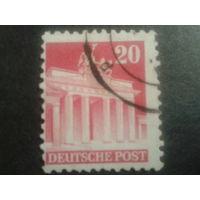 Германия 1948 Бизония L11 20 пф. Бранденбургские ворота