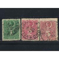 Чили 1878 Колумб Стандарт #18,19,20