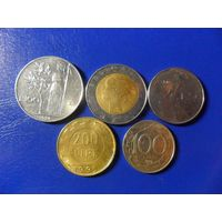 Италия 5 монет одним лотом