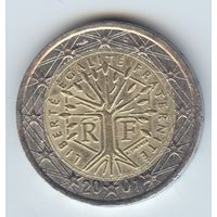 2 евро 2001 г. Франция #9
