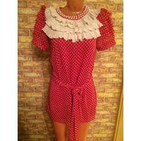 Шикарное, игривое платье-туника на 42-44 размер. Длина 82, ПОталии 55 см. Очень красиво смотрится. Обмен не интересует