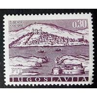 Югославия 1966 г. 900 лет г. Шибенику. Архитектура, полная серия из 1 марки. Чистая #0015-Ч1