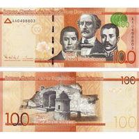 Доминиканская республика  100 песо 2014 год   UNC