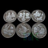 Набор 6 монет: 150 рублей 1988-91 250 лет открыт Русск Америк,1000-летие лит-ры,500 лет гос-ти копии