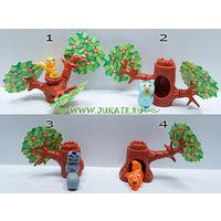 Киндер серия Дерево с животными 1997г