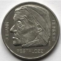 Швейцария 5 франков 1977 года. Педагог Иоганн Генрих Песталоцци
