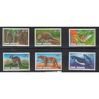 Острова Кука Фауна 1992 года чистая полная серия из 6 марок